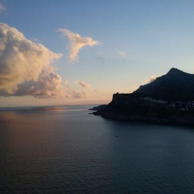 Blick vom Cap Gros bei Sonnenaufgang