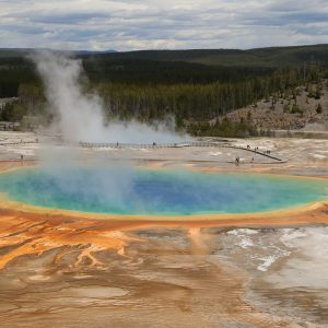 Grand Prismatic Spring Thermalquelle im Yellowstone Nationalpark